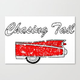 chasing tail classic car Canvas Print