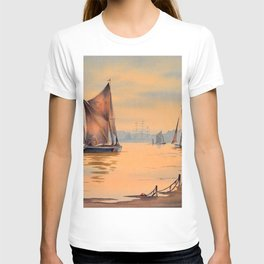 Barges On The River Thames Greenwich London T-shirt