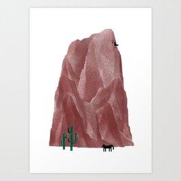 The Living Rock Art Print