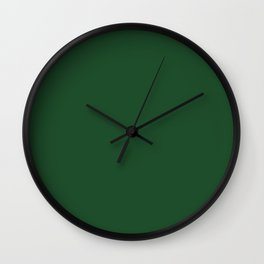 Cal Poly Pomona Green - solid color Wall Clock