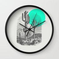 cacti Wall Clocks featuring Cacti by Zeke Tucker