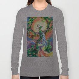 Wooden Bird of Paradise  Long Sleeve T-shirt