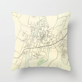 Vintage Map of Stamford CT (1893) Throw Pillow