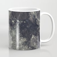 the moon Mugs featuring Moon by Pete Baker