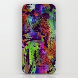 Rainbow cool brush iPhone Skin