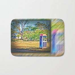 Rural Phone Booth Bath Mat