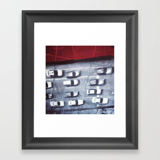 cars from above Framed Art Print