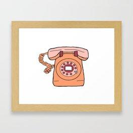 wait for dial tone Framed Art Print