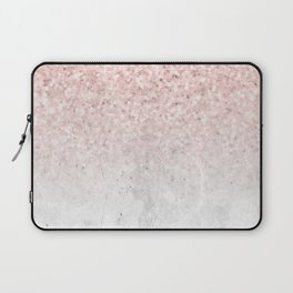 She Sparkles Rose Gold Pink Concrete Luxe Laptop Sleeve