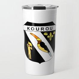 flag of Kourou, french guiana Travel Mug