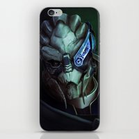 garrus iPhone & iPod Skins featuring Mass Effect: Garrus Vakarian by Ruthie Hammerschlag