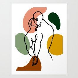 NOODDOODs Lines 3 Art Print