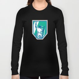 Window Cleaner Worker Shield Retro Long Sleeve T-shirt