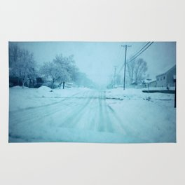 An Icy road Rug