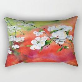 Dogwood Blossom Rectangular Pillow