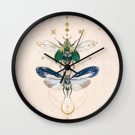 Moon insects Wall Clock