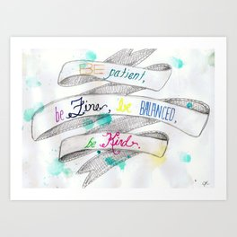skinny love Art Print