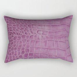 Croco leather effect - purple Rectangular Pillow