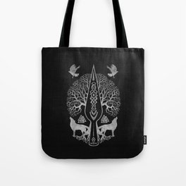 Gungnir - Spear of Odin and Tree of life  -Yggdrasil Tote Bag
