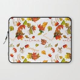 Autumn Leaves Hello Fall! Laptop Sleeve