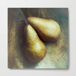 Florentine Fruit - Bosc Pears Still Life Metal Print