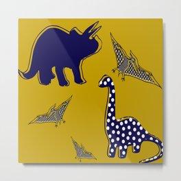 Dinosaur mustard Metal Print
