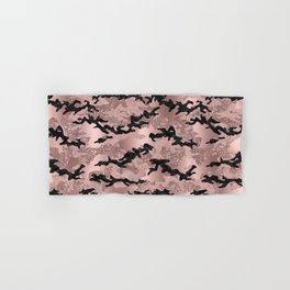 Rose Gold Glitter Camouflage Hand & Bath Towel