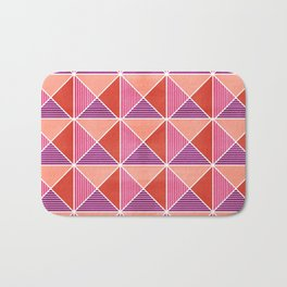 GEO STUD GRID - RED Bath Mat