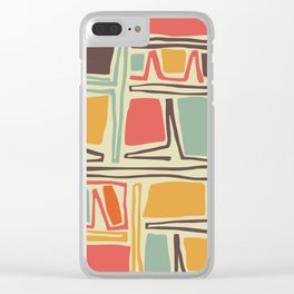 Whimsical abstract pattern design Clear iPhone Case
