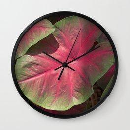 Pink Veins Wall Clock