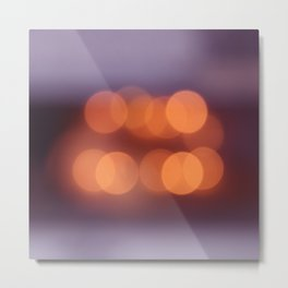 bokeh orange 4 Metal Print