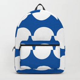 Offset circles (sapphire blue) Backpack