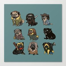 The Walking Pug Canvas Print