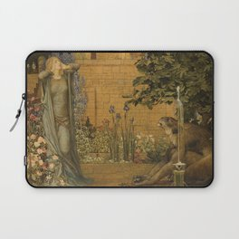 Beauty and the Beast, 1904 by John D Batten & Joseph E Southall - Reproduced from original under CC0 Laptop Sleeve