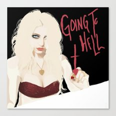 Taylor Momsen Going to hell. Canvas Print