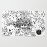 london Area & Throw Rugs featuring LONDON by Maps Factory