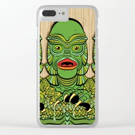 Creature from the Black Lagoon on grasscloth Clear iPhone Case