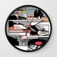 records Wall Clocks featuring Records Worth by Zombie Rust