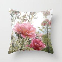 Sandia Roses Throw Pillow