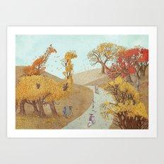 The Night Gardener - Fall Park Art Print