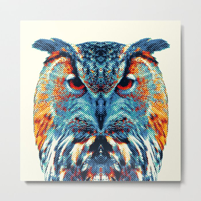 Owl - Colorful Animals Metal Print