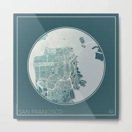San Francisco Map Planet Metal Print