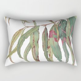 A touch of red - watercolour of eucalyptus branch Rectangular Pillow