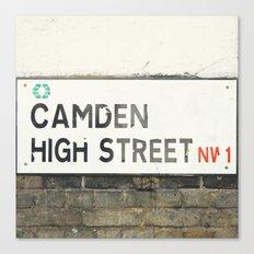 Camden High Street Sign Canvas Print