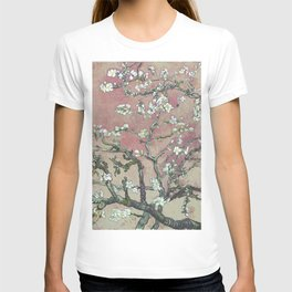 Almond Blossom - Vincent Van Gogh (pink pastel and cream) T-shirt