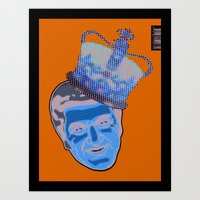 Blue Liberace  Art Print