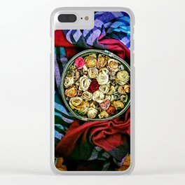 Roses and Wood Clear iPhone Case