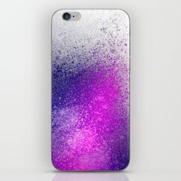 Hot Pink and Purple Paint Splatter iPhone Skin