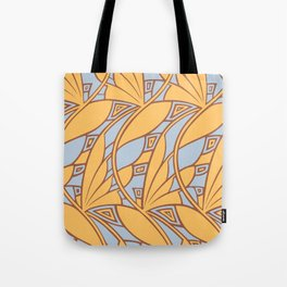 Modern art nouveau tessellations gamboge azure Tote Bag