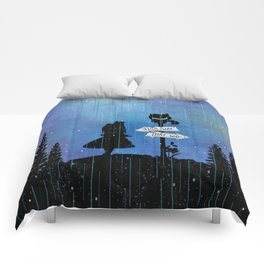 Any Road Will Get You There - Alice In Wonderland Comforters